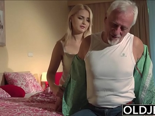 Grandpa having sex with young women
